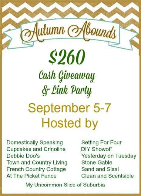 Autumn Abounds $260.00 Cash Giveaway.