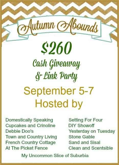 Autumn Abounds $260.00 Cash Giveaway.