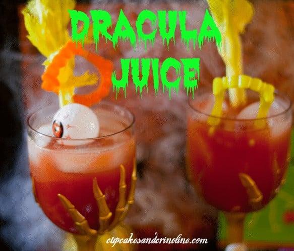 Halloween Party Dracula Juice from cupcakesandcrinoline.com