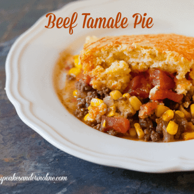 Beef Tamale Pie with Cornbread Crust ~ Easy Weeknight Meals