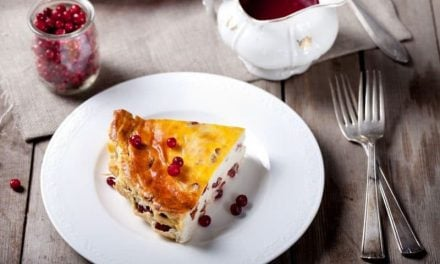 Cottage Cheese Pudding with Fresh Cranberries//Thanksgiving Traditions