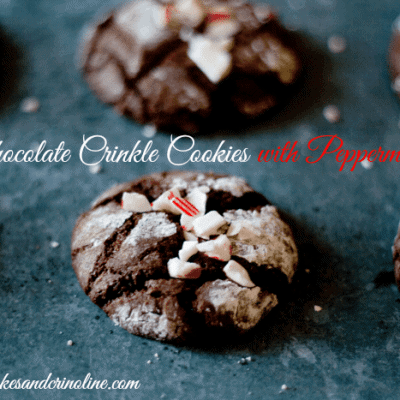 Chocolate Crinkles with a Peppermint Twist