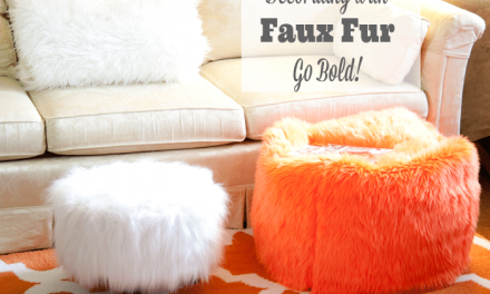 Decorating with Faux Fur ~ Go BOLD!