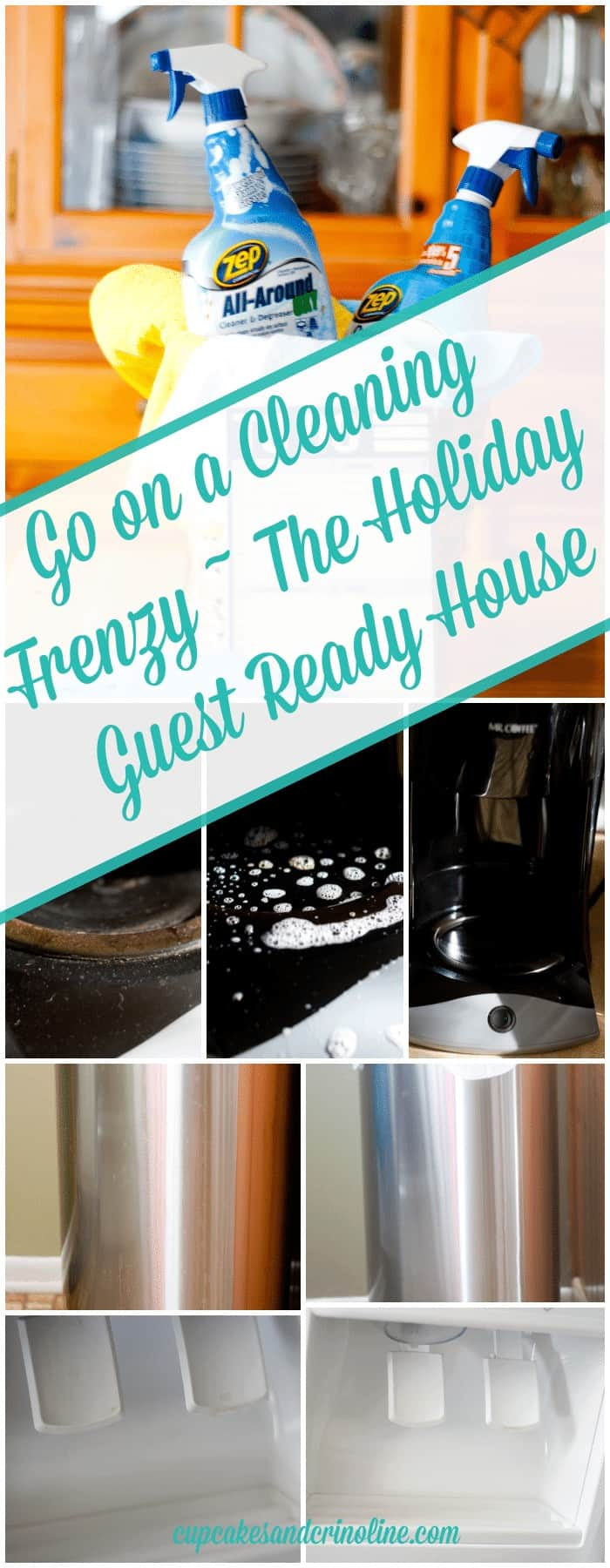Go on a Cleaning Frenzy ~ the Holiday Guest Ready House #TryZep cupcakesandcrinoline.com