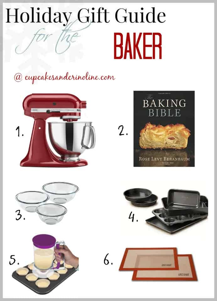Holiday Gift Guide for the Baker from cupcakesandcrinoline.com #ultimategiftguides2014 #wishlist #blackfriday2014 #cybermonday2014