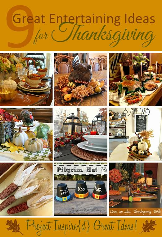 9 Great Ideas for Thanksgiving Entertaining