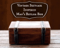 Vintage Suitcase Inspired Man's Butler Box Handmade Gifts from CupcakesandCrinoline.com