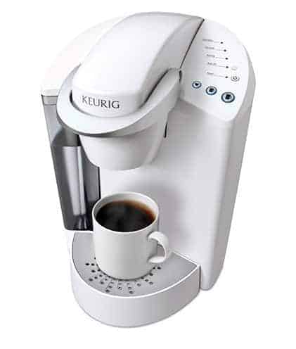 Keurig Elite K45 Brewing System in White Gift Ideas for Coffee Lovers from cupcakesandcrinoline.com