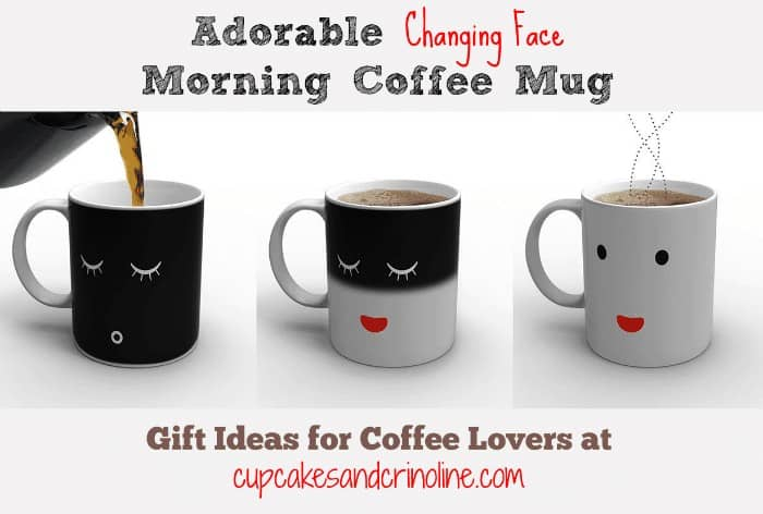 Changing Face Coffee Mug ~ Gift Ideas for Coffee Lovers at cupcakesandcrinoline.com