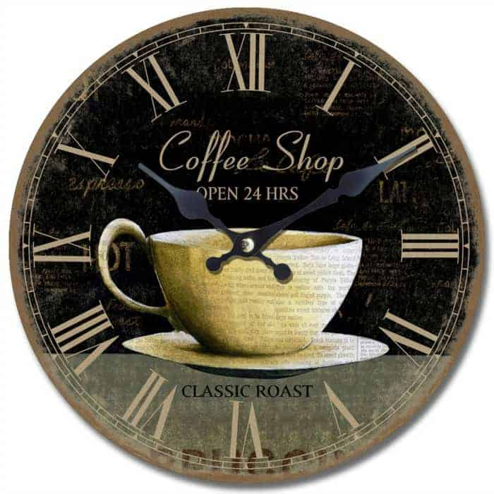 Wooden Coffee Shop Clock