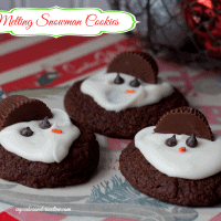Easy to Make Melting Snowman Cookies from cupcakesandcrinoline.com