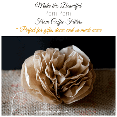 Coffee Filter Flowers and Poms Poms and a Great Family Gift Idea