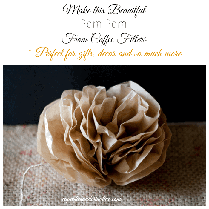 How to Make Pom Poms and Flowers from Coffee Filters from cupcakesandcrinoline.com