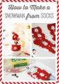 How to Make a Snowman from Socks