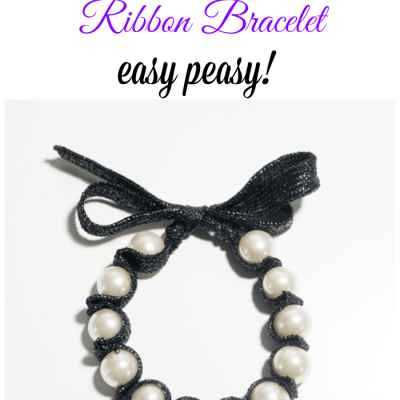 Handmade Christmas Gift ~ Easy to Make Ribbon Bracelet and an OttLite Giveaway
