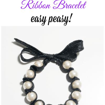 Handmade Christmas Gift ~ Easy to Make Ribbon Bracelet and an OttLite Giveaway