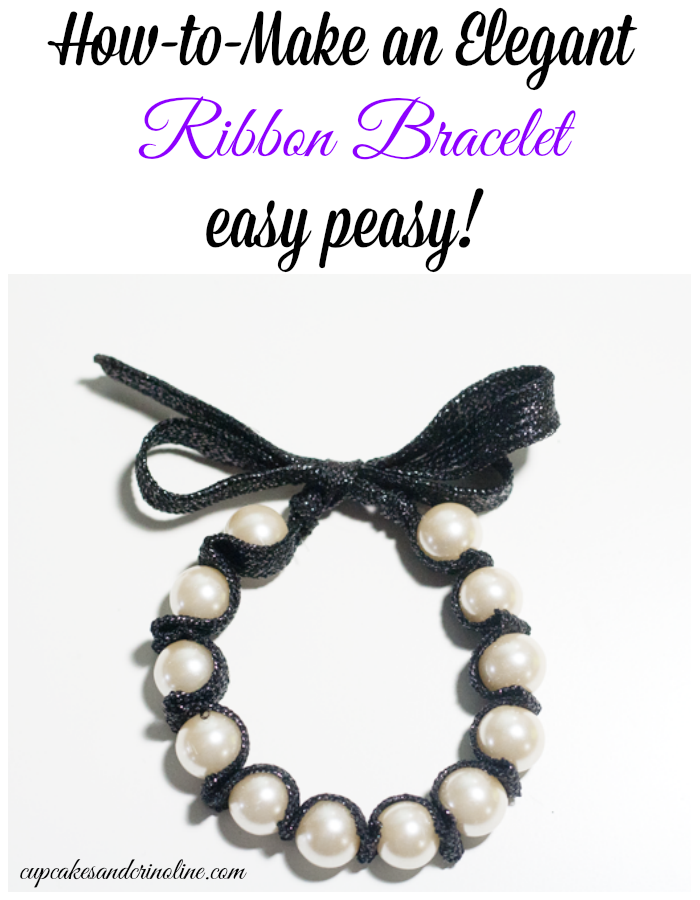 How-to-make an elegant ribbon bracelet from cupcakesandcrinoline.com
