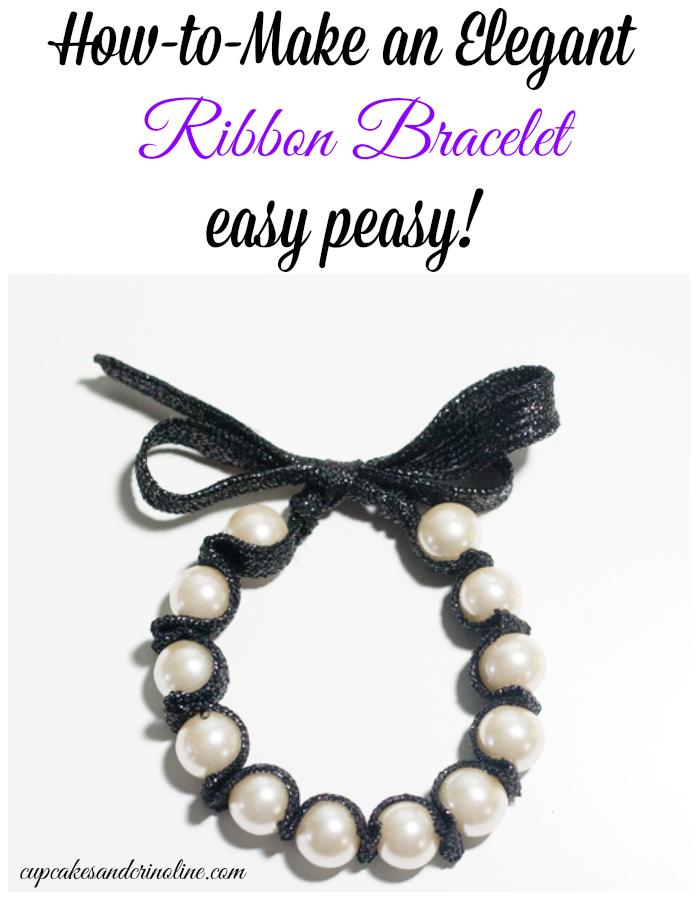 How-to-make an elegant ribbon bracelet from cupcakesandcrinoline.com