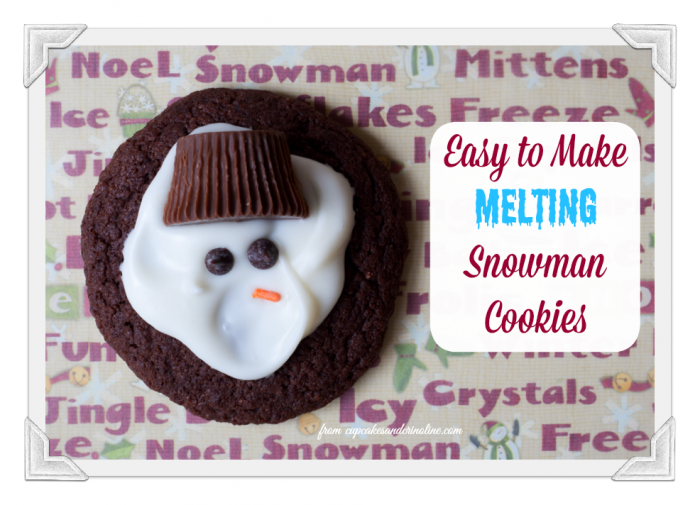 Melting Snowman Cookies ~ easy to make and decorate from cupcakesandcrinoline.com