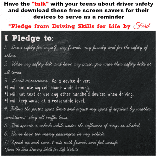 Safe Driving Pledge for Teens Screensavers for smartphones and devices from#FordDriveSafe cupcakesandcrinoline.com