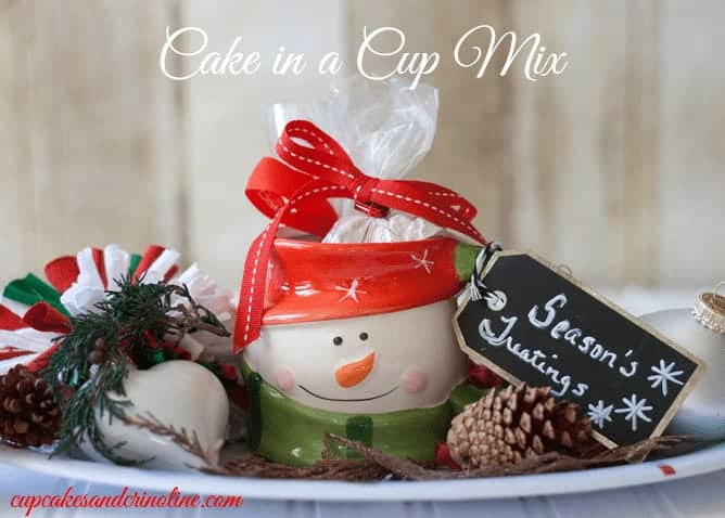 cake in a cup mix with gift mug from cupcakesandcrinoline.com
