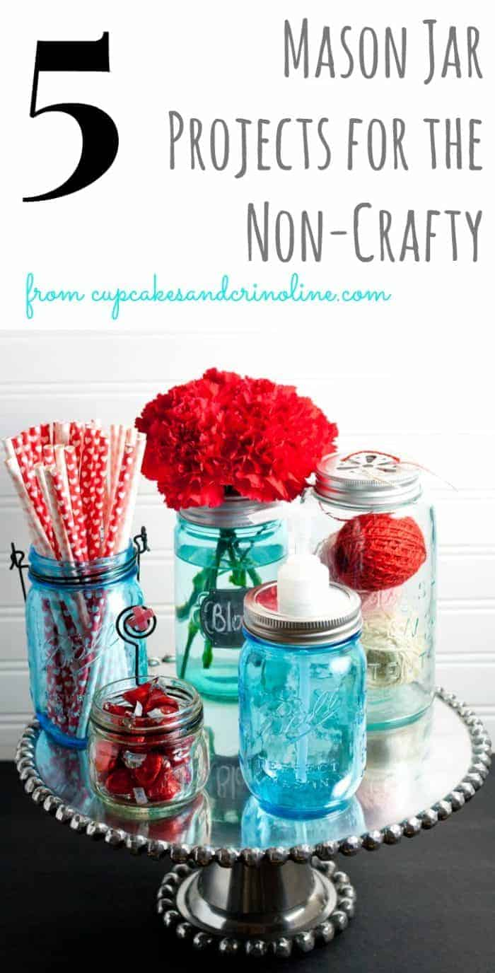 5 Mason Jar Projects for the Non-Crafty