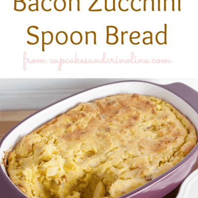Bacon Zucchini Spoon Bread ~ Home Cooking 101