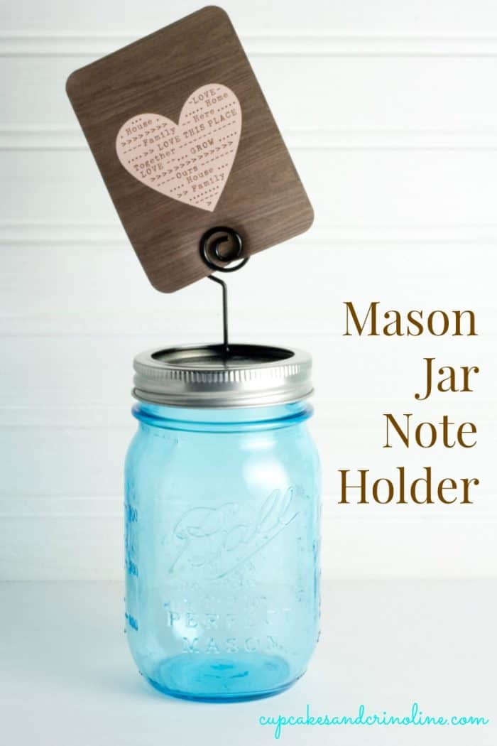 Blue Ball Mason Jar with Clip Holder from cupcakesandcrinoline a.com