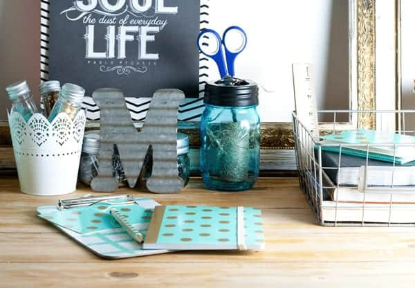 Organize Your Workspace with Items from Your Favorite Stores - Target and Ikea from cupcakesandcrinoline.com