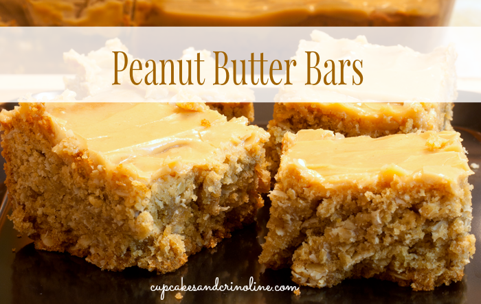 Peanut Butter Bars from cupcakesandcrinoline.com