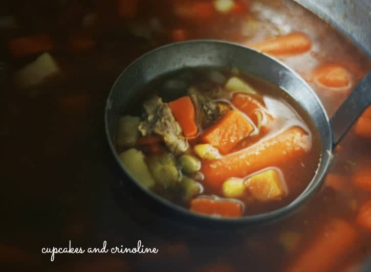 The Best Beef Vegetable Soup from my Mom cupcakesandcrinoline.com