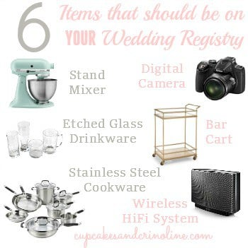 6 Items to Put on Your Wedding Registry
