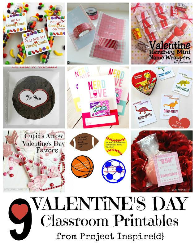 9 Valentine's Day Classroom Printables from Project Inspire{d}
