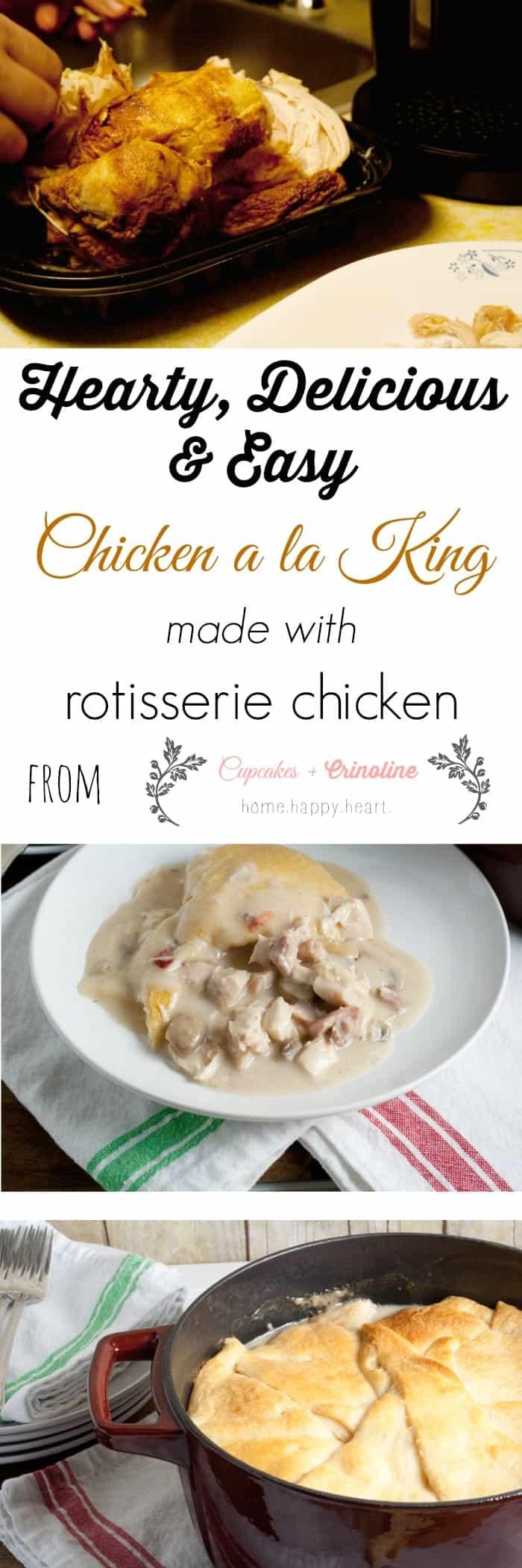 Chicken a la King from cupcakesandcrinoline.com