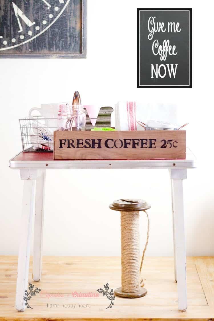 Vintage Coffee Organization Station