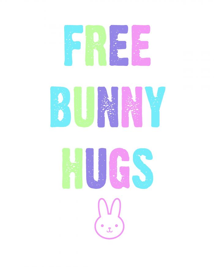 Free Bunny Hugs Easter Printable from cupcakesandcrinoline.com