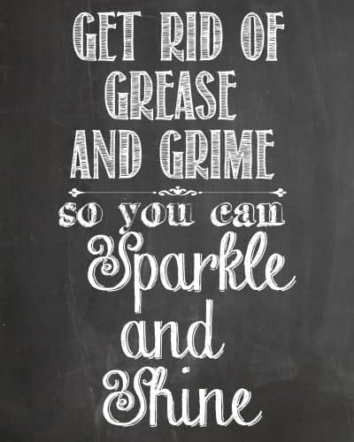 Sparkle and Shine Chalkboard Printable from cupcakesandcrinoline.com #ZepSocialstars