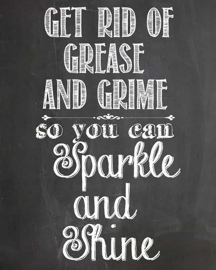Sparkle and Shine Chalkboard Printable from cupcakesandcrinoline.com #ZepSocialstars