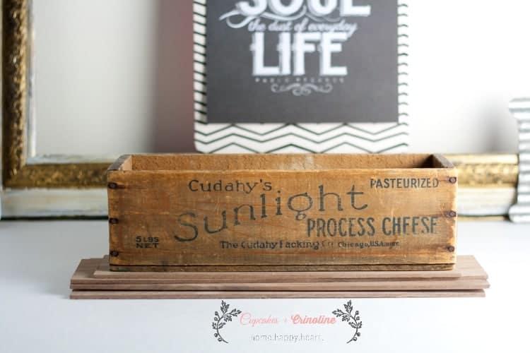 Vintage Wooden Cheesebox from cupcakesandcrinoline.com