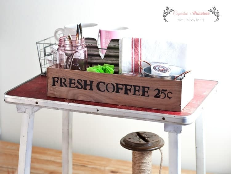 Vintage Coffee Station Wooden Box
