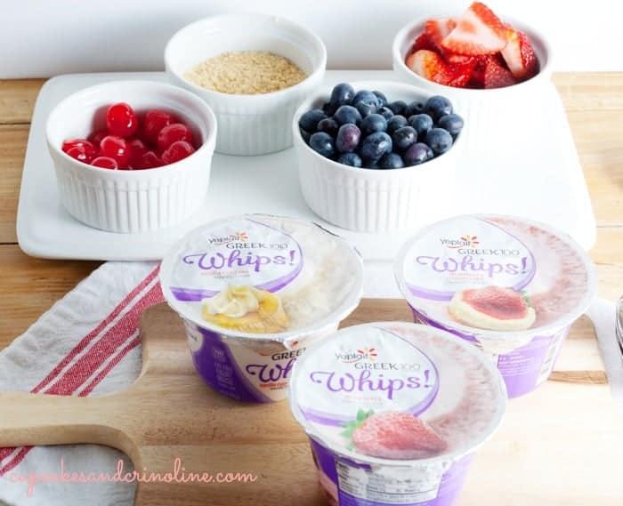 Yoplait Greek 100 Whips! #whipitup #150calories #snackhackwhipitup cupcakesandcrinoline.com