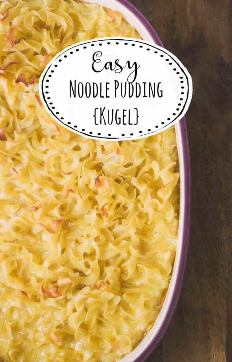 Easy to make noodle pudding using No Yolks broad noodles - Kugel for the masses