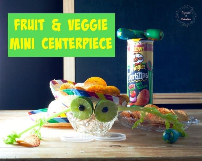 Fruit and Veggie Mini Centerpiece #ad #PringlesAirDip cupcakesandcrinoline.com