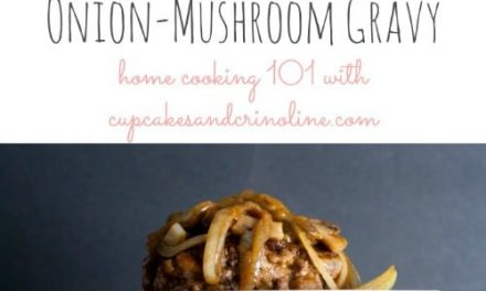 Hamburger Steak with Onion and Mushroom Gravy