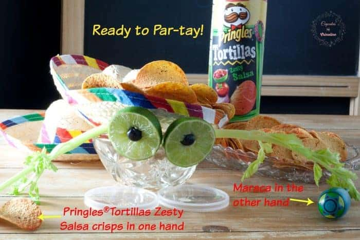 Mini Adorable Fruit and Veggie Centerpiece ~ perfect for a fiesta! #ad #PringlesAirDip