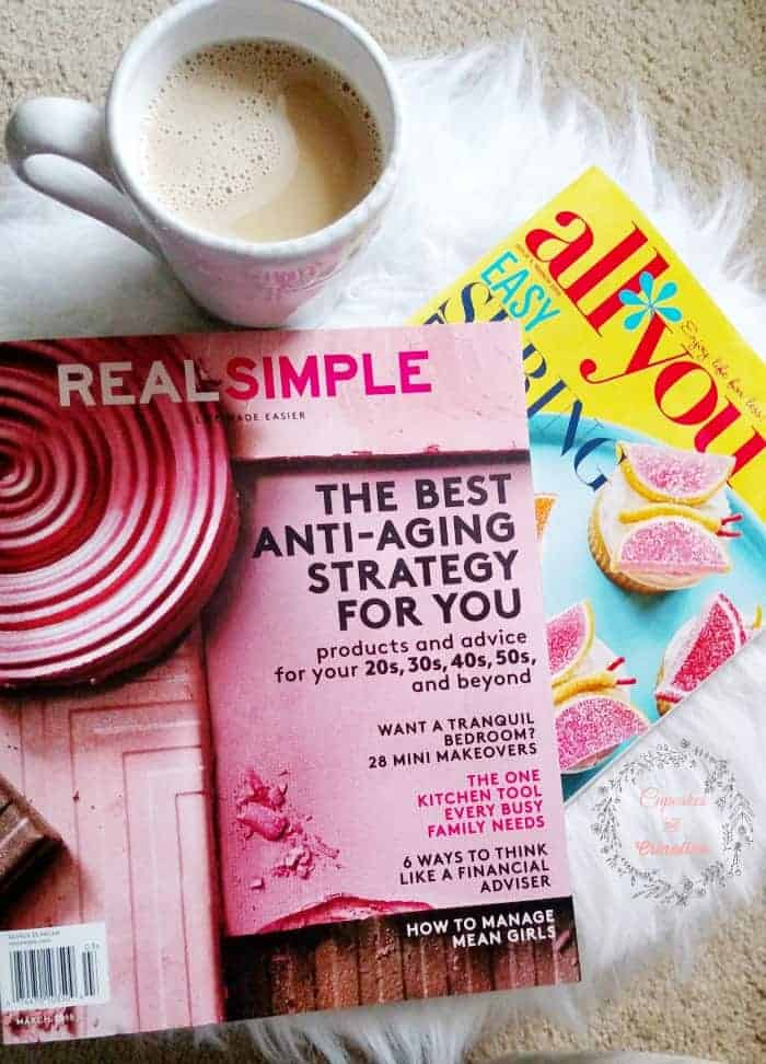 Morning Coffee with Real Simple and All You #SpringintoMeTime #PMedia #ad cupcakesandcrinoline.com #SpringintoMeTime #PMedia #ad