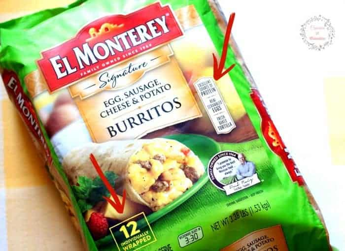 Quick and Easy Breakfast Burritos #momwins #elmonterey #sp