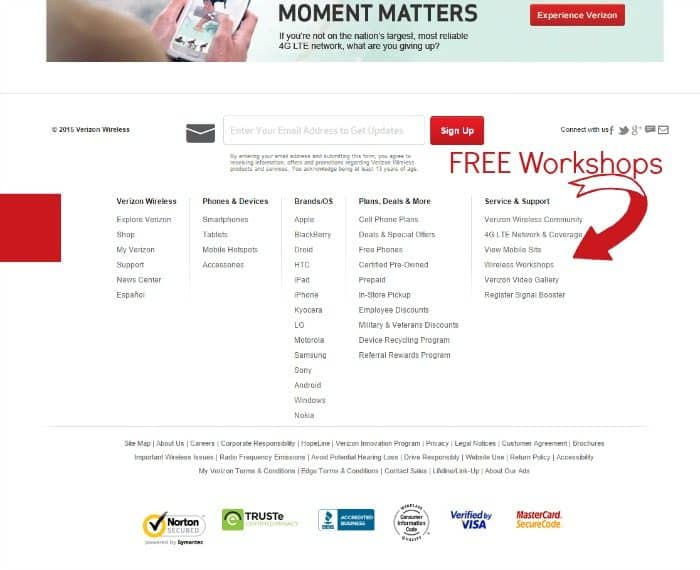 Verizon Wireless Main Page #VZWBuzz #MoreVA