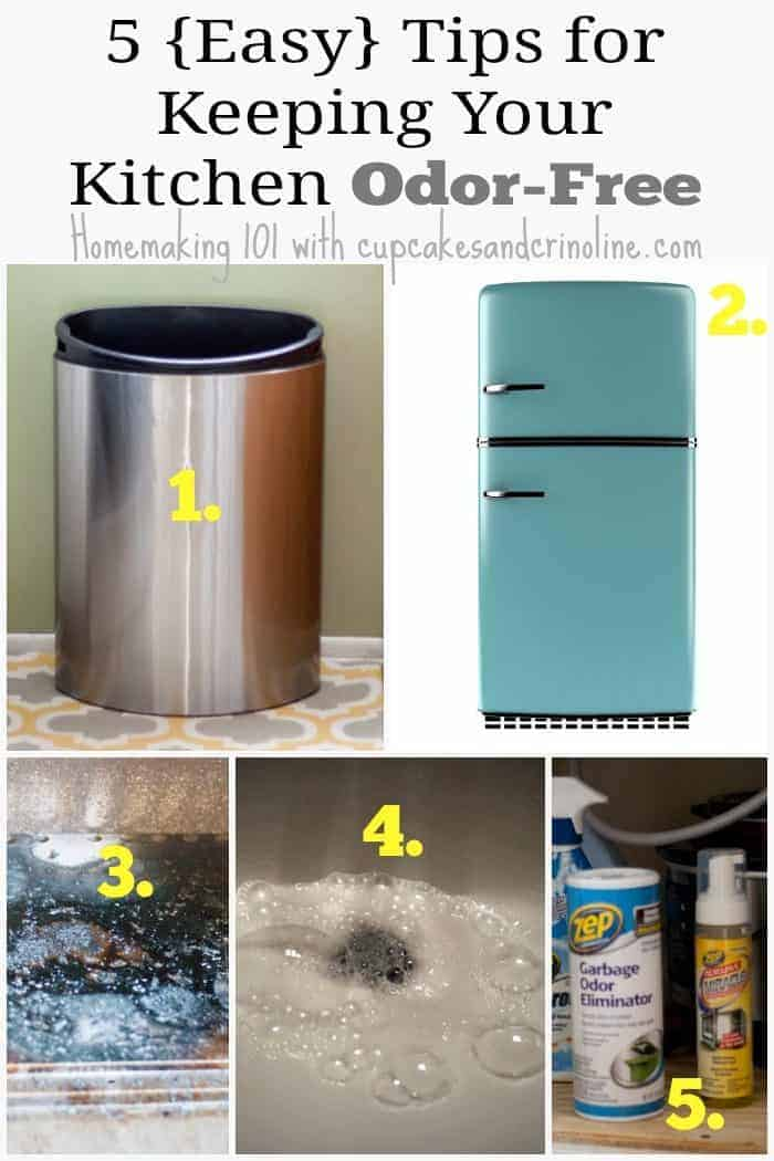 5 Tips for Keeping Your Kitchen Odor-Free from cupcakesandcrinoline.com #ZepSocialstars #ad