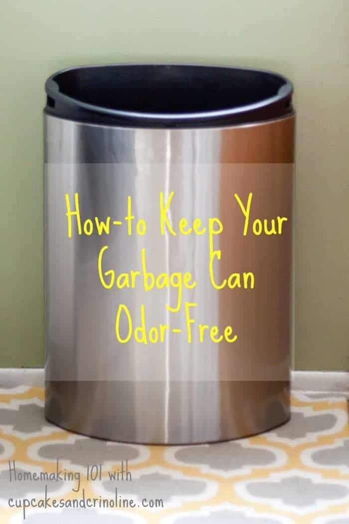 How-to keep your garbage can odor-free - homemaking 101 with cupcakesandcrinoline.com#ZepSocialstars #ad
